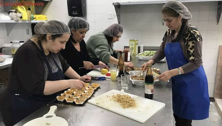 Syrian refugee women cook up a taste of home with Montreal business