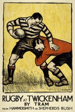 Rugby at Twickenham Print