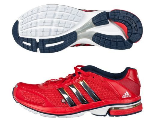 Catherine wore the Team GB Adidas Supernova Glide 4 Running Trainers (With thanks to What Kate Wore) The vivid red/metallic silver trainers are available for £87.11.
