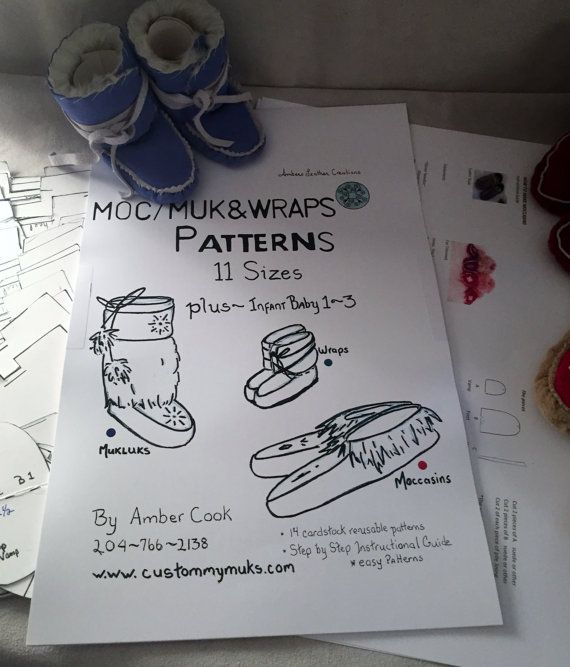 How to Make Wraps, Mukluks & Moccasins ~ includes 14 reusable patterns, newborn to size 12
