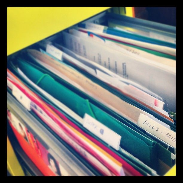 get your paper clutter organised - filing cabinet
