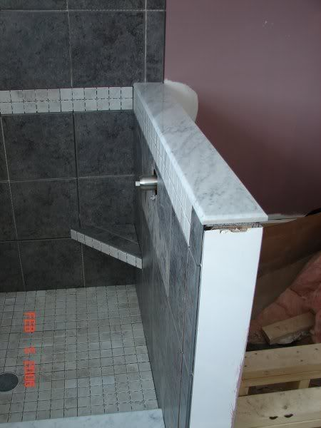 Tile bathrooms knee wall images google search bathroom - Tiling a bathroom wall on drywall ...
