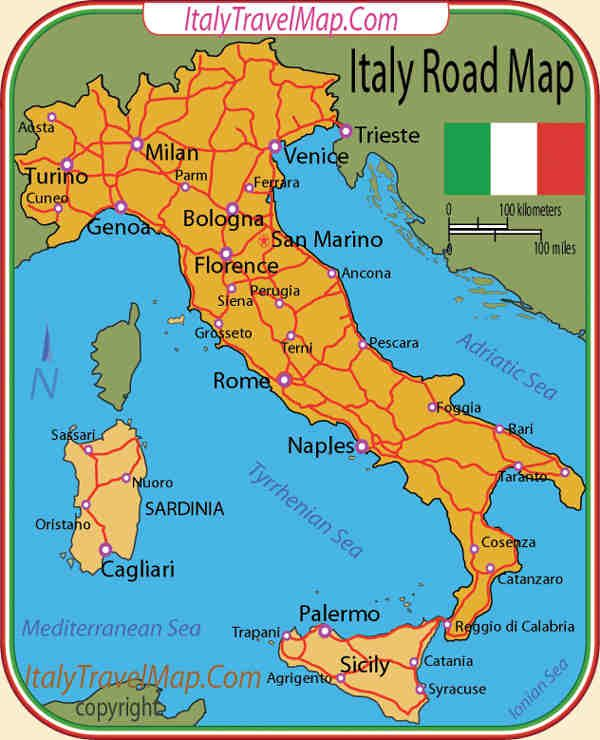 Driving Map Of Italy.Travel Maps By Car Cool Maps World Map Database