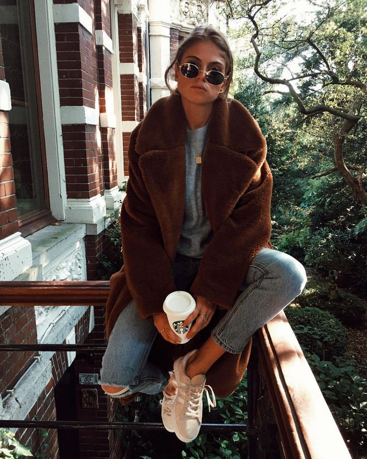 teddy bear jacket + cozy street style + fall outfit inspiration