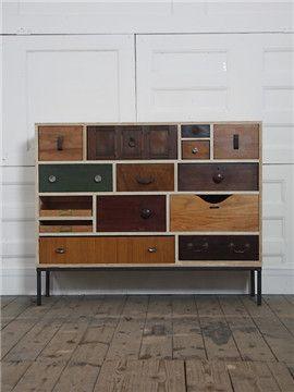 Elemental antique vintage retro furniture lighting seating : antique : Upcycled drawer cabinet 2