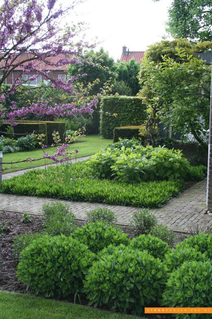 Tuin inspiratie De Rooy Hoveniers stijlvolle tuin borders Dussen