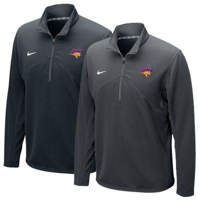 Nike black or anthracite 1/2-zip dri-fit training top. $62.99: Nike Black