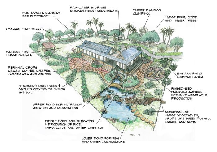 a self sufficient house farm layout