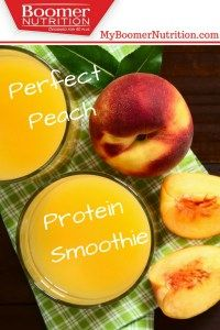 Perfect Peach Protein Smoothie - Boomer Nutrition