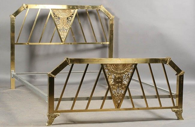 Art Deco brass bed 1930