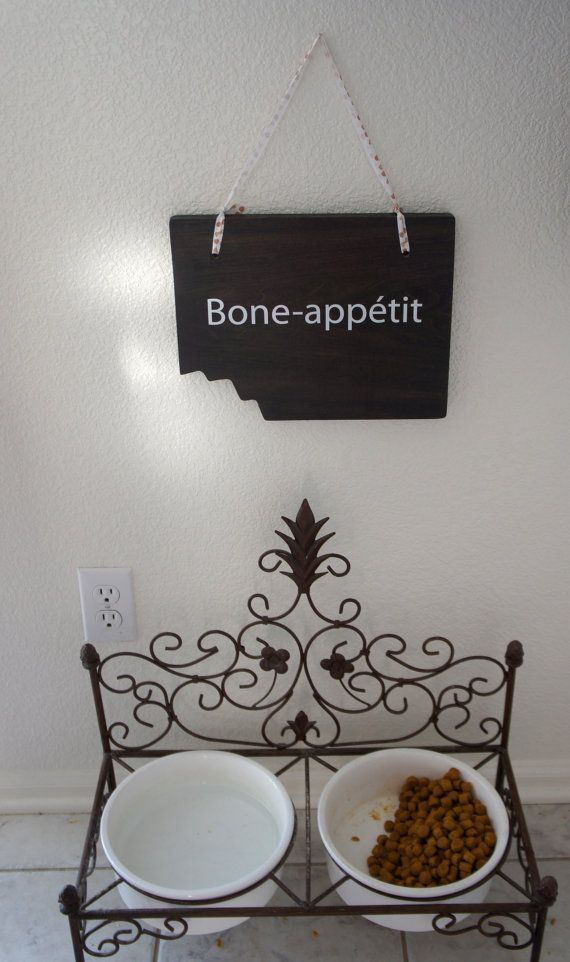 Hey, I found this really awesome Etsy listing at https://www.etsy.com/listing/114723481/spruce-up-your-pet-dog-food-station-bone