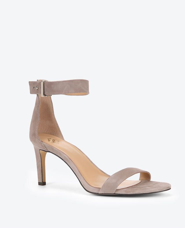 Alaina Suede Ankle Strap Sandals | Ann Taylor