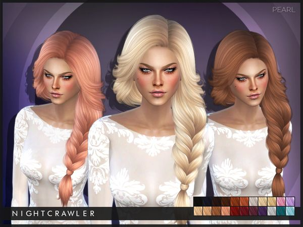 The Sims Resource: Pearl hair by Nightcrawler-  - Sims 4 Hairs - http://sims4hairs.com/the-sims-resource-pearl-hair-by-nightcrawler/