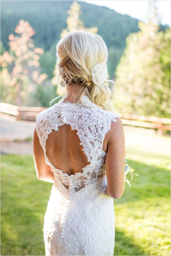 Maggie Bride Christina wore Bronwyn by Maggie Sottero at her Teal and Pink Wedding at Callahan's Mountain Lodge in Oregon | Nikita Lee Photography