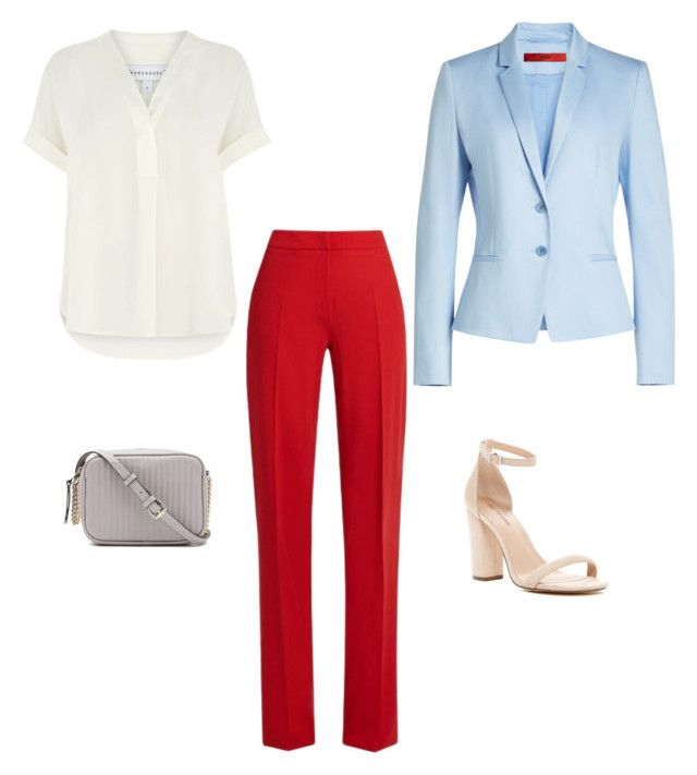 """Blue+red"" by sofya-2 on Polyvore featuring HUGO, Warehouse, Call it SPRING and MaxMara"