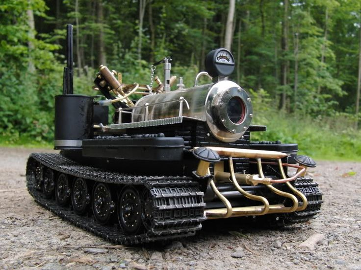 Live Steam Tank with Robot driver based on Tamiya ...