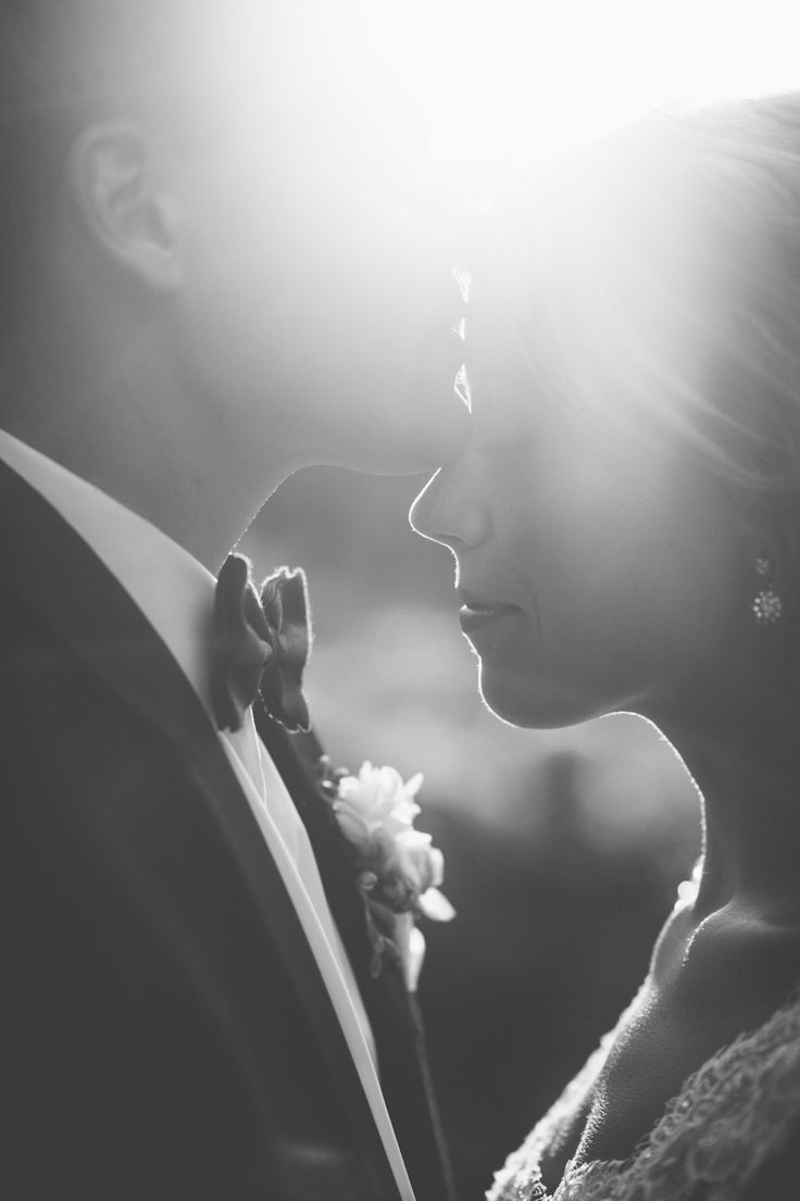 Love, wedding, black and white photo, couple