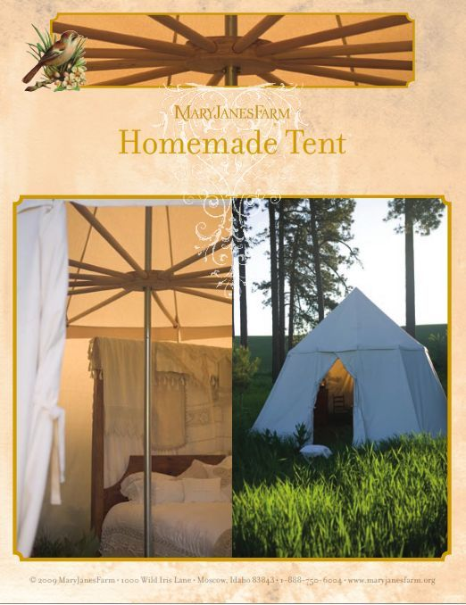 DIY Canvas Summer Tent (or for the back yard camping trip, maybe??)  http://www.maryjanesfarm.org/Recipes-Patterns-Instructions/tent_instructions.pdf