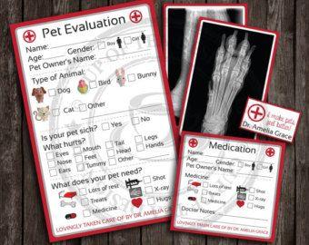 Pretend Role Play Vet Props Kit Pet Adoption by PurelySplendid