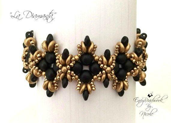 Beading Pattern: La Diamanta Bracelet in English