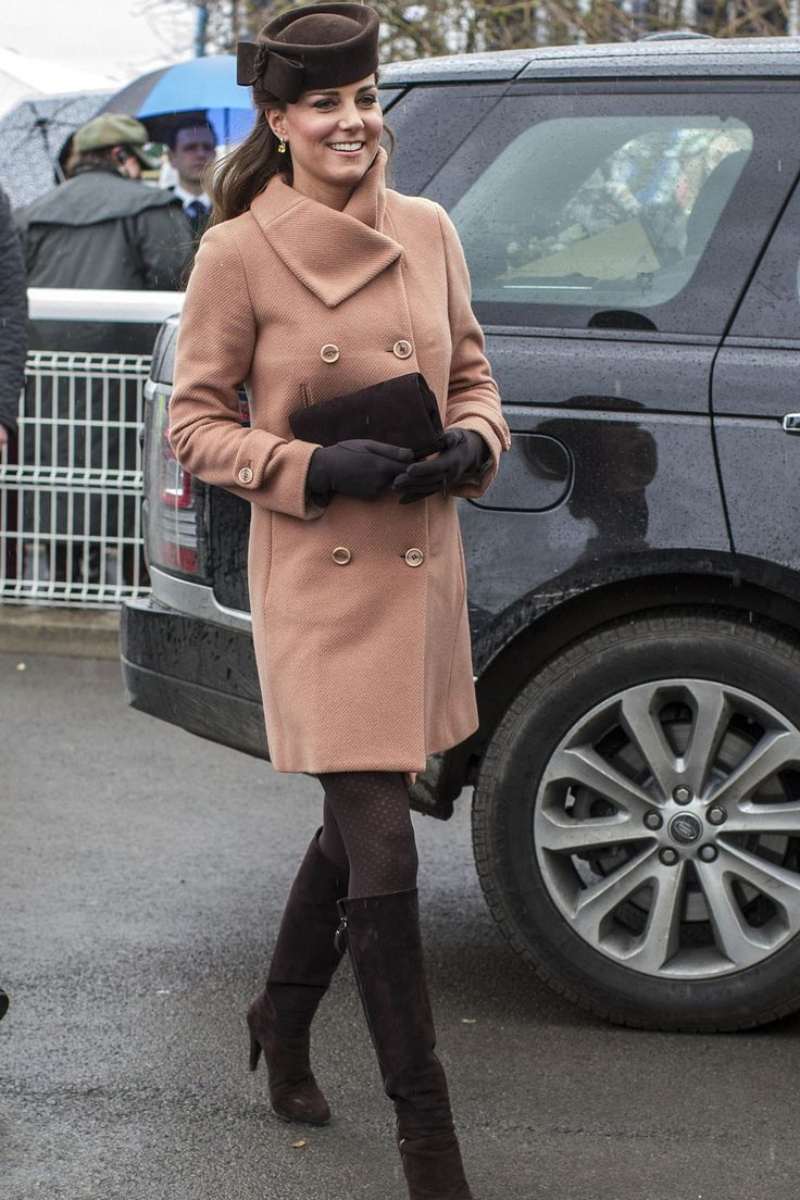 The Duchess of Cambridge at the Cheltenham Races today