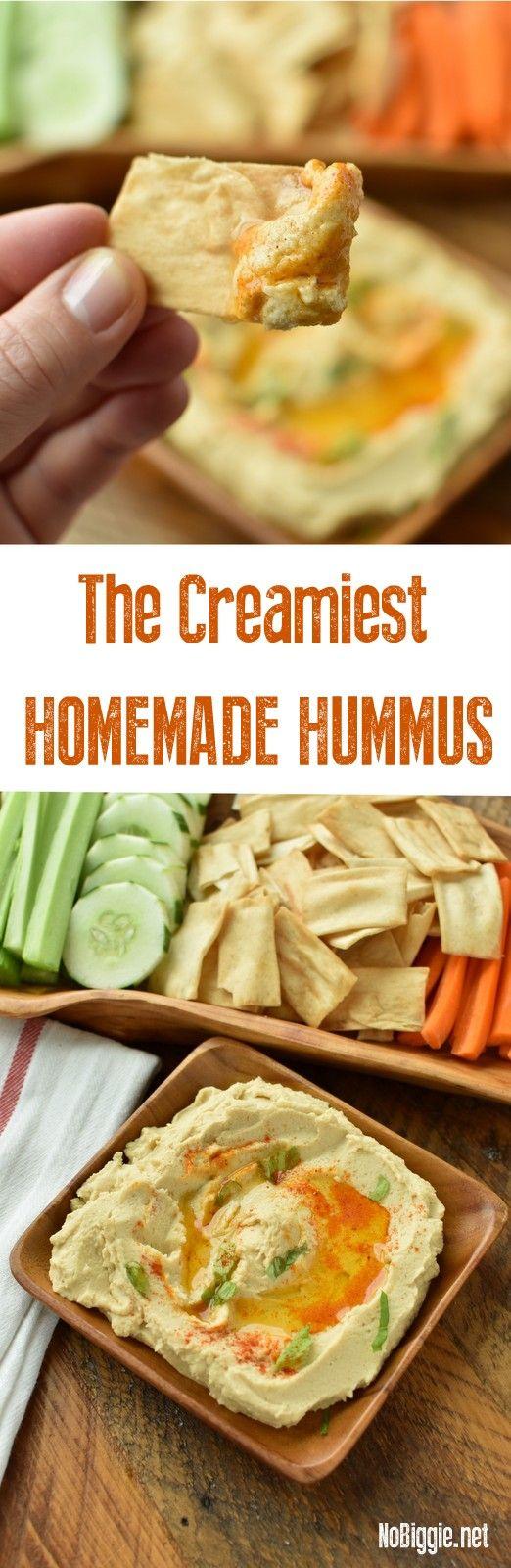 how to make the creamiest hummus | NoBiggie.net