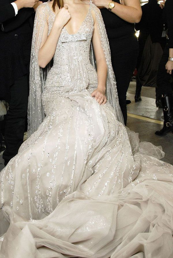 Elie Saab shimmering silver wedding gown // The Wedding Scoop Spotlight: Sparkly Wedding Dresses - Part 2