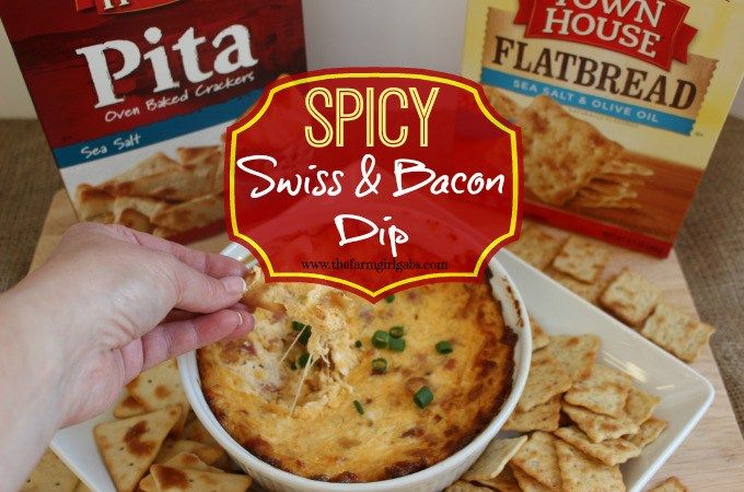 Food Blogger Melissa Russo creates a Spicy Swiss & Bacon Dip that's perfect with Town House Crackers! #WaysToWow #collectivebias #ad