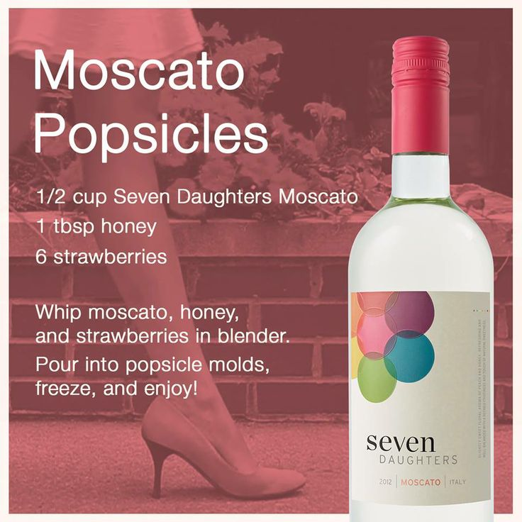 Moscato Popsicles are super easy and perfect for summer parties!