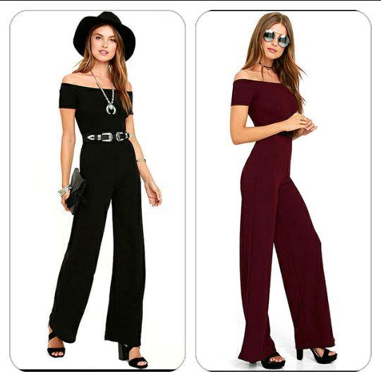 Fekete vagy burgundy? Black or burgundy? #divat #fashion #tanitafashion #outfit #ruha #clothes #jumpsuits http://j.mp/tf-wide-leg-jumpsuit