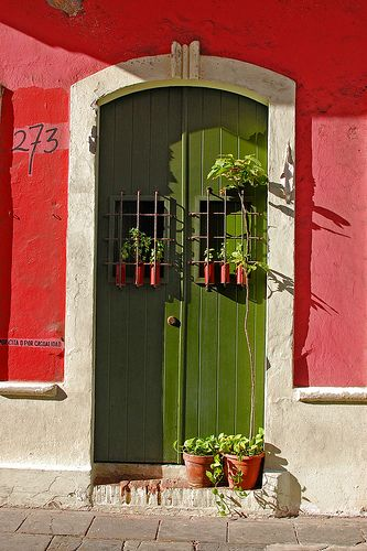 Colorful Old San Juan -- Puerto Rico by Wei Zhang--I want to paint our door this color!