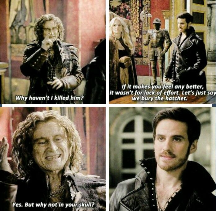 I remember being taken aback by this omg Rumple harsh and sassy I wouldn't expect anything less