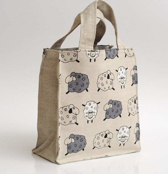 Lunch bag  Eco friendly  little sheeps by JBworld on Etsy, $11.99: Bags Ready, Bags Eco, Fun Bags, Cutest Lunches, Lunches Bags, Fabrics Bags, Sheepish Lunches, Etsy Finding, Bags Bags