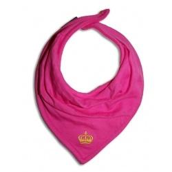 Babero bandana rosa con corona