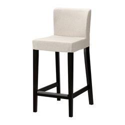 IKEA - HENRIKSDAL, Barhocker, 74 cm, , Mit gepolstertem Sitz für erhöhte Bequemlichkeit.Mit Fußstütze.Stuhlbeine aus Massivholz, einem strapazierfähigen Naturmaterial.Der Bezug für HENRIKSDAL Barhocker mit Rückenlehne lässt sich leicht aufziehen und abnehmen.