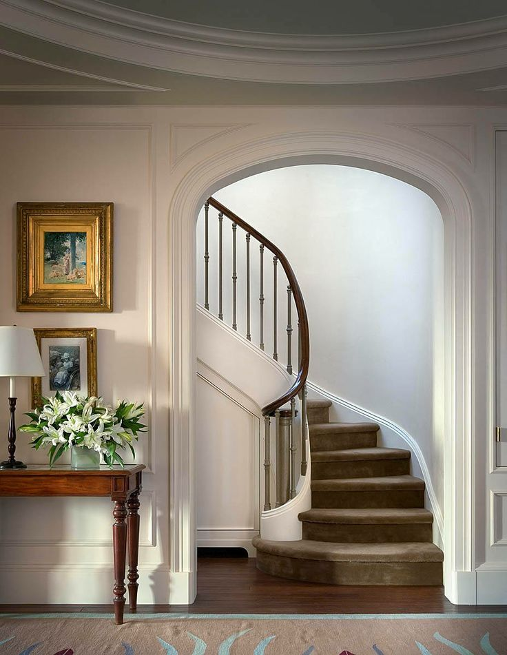 Foyer Stair Rails : Foyer great example of an impressive way to welcome