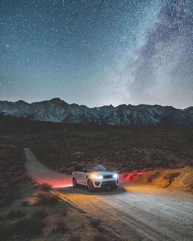 last night, under the new moon, the milky way shone bright above us, kicking off our week long road trip through california with @LandRoverUSA in the #RangeRoverSport #SVR. #ad