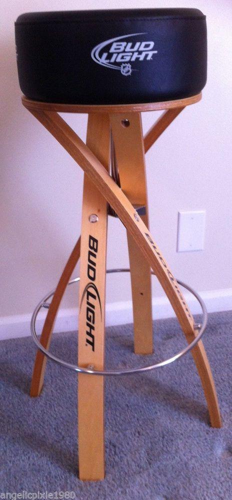new bud light nhl hockey bar stool budweiser light budlight present. Black Bedroom Furniture Sets. Home Design Ideas