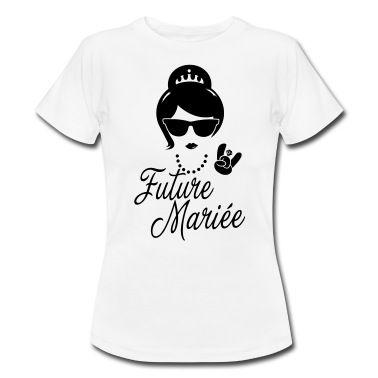 Tee shirt Future Mariée Enterrement Vie evjf Vintage hipster | Spreadshirt | ID: 24486390