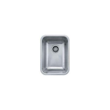 Franke GDX11012 Grande Single Basin Undermount 18-Gauge Stainless Kitchen Sink, Stainless Steel, Silver