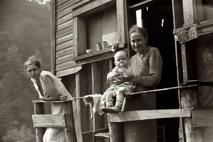 Generations: September 1938. Mother, wife and child of unemployed coal miner. Marine, West Virginia. 35mm negative by Marion Post Wolcott for the FSA.