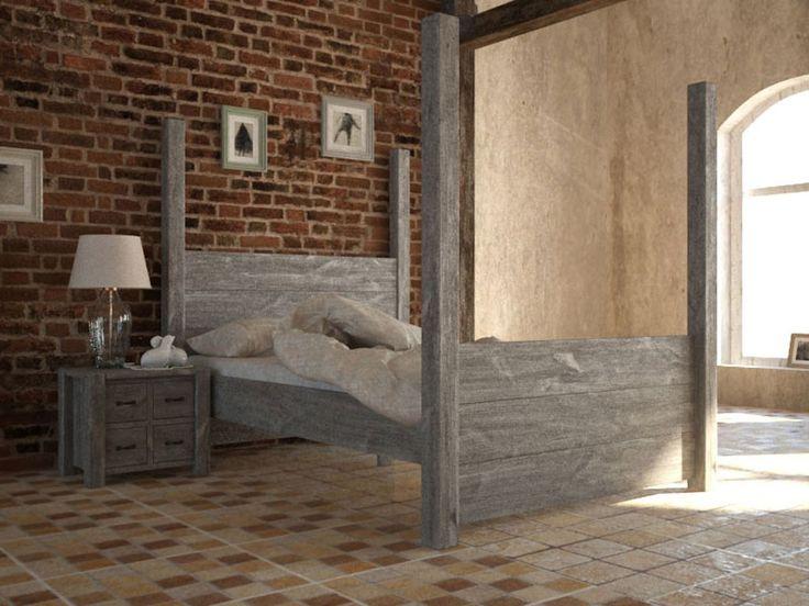 Rustykalne łóżko Country 140 cm