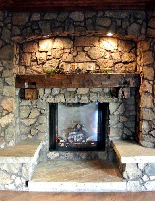 25 Best Ideas About Rustic Fireplace Mantels On Pinterest