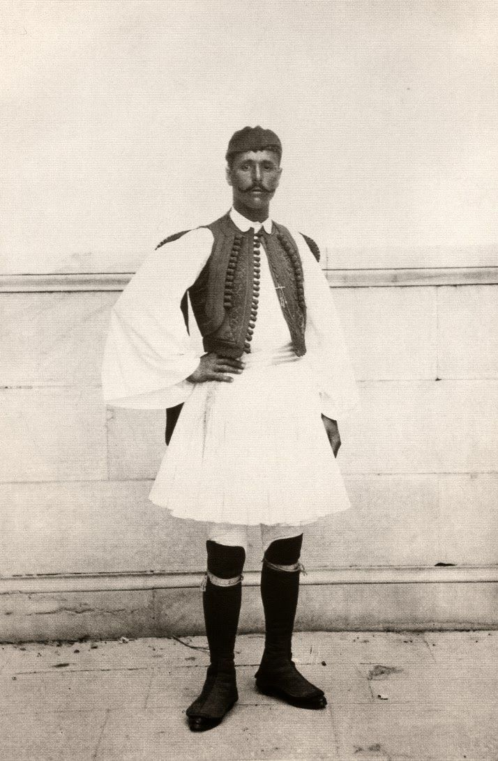 Spyros Louis in a traditional clothing during the first Olympic Games. Greece 1896