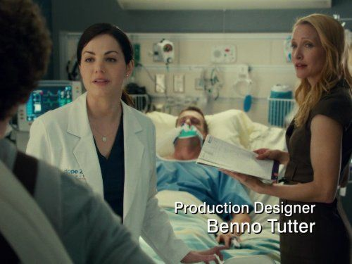 Michelle Nolden, Michael Shanks, and Erica Durance in Saving Hope (2012)