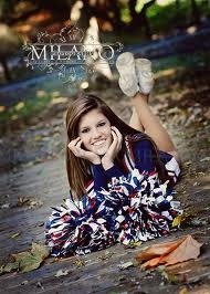 Senior Picture Idea 4 Cheerleader ♥ write my graduation year on the bottom of my shoes. <3