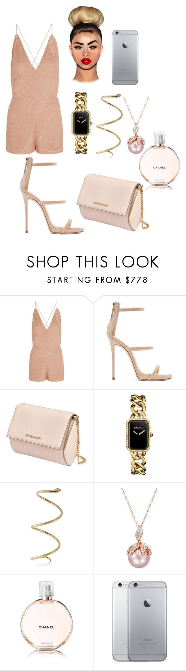 """""""Tenue#278"""" by hymalaya ❤ liked on Polyvore featuring Valentino, Giuseppe Zanotti, Givenchy and Chanel"""