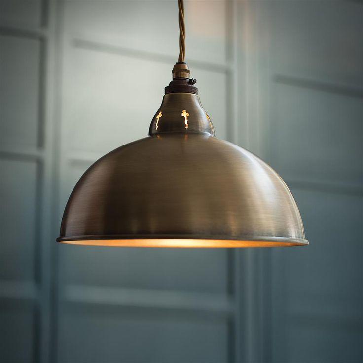 Butler Pendant Light in Antiqued Brass