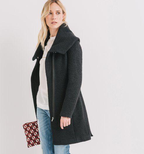 Manteau+en+laine+mélangée
