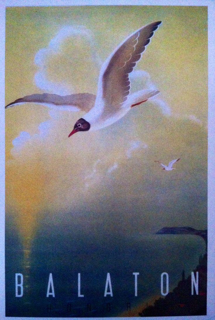 Balaton, Hungary. 1960s poster